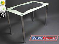 Обеденный стол стеклянный с прямоугольной столешницей Волна от БЦ-Стол