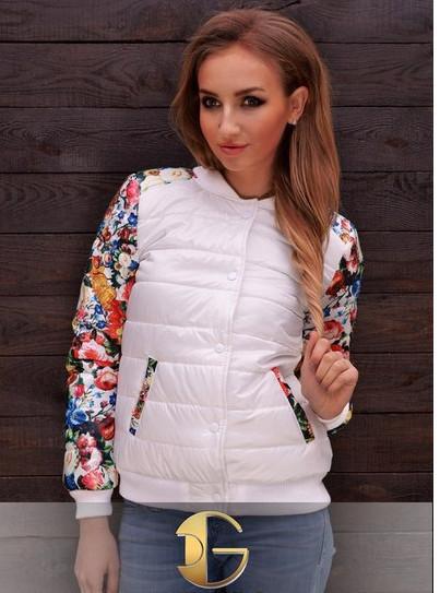 Короткая куртка «Цветы»