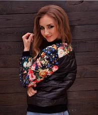 Короткая куртка «Цветы», фото 3
