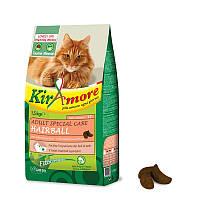 Корм GHEDA Kiramore Adult Special Care Hairball для кошек выведение шерсти (Лосось с рисом), 15 кг