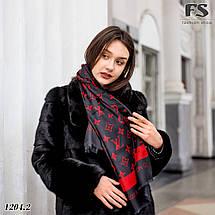 Чёрно-красный стильный шарф, фото 2