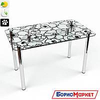 Обеденный стол стеклянный прямоугольный Грация S-2 от БЦ-Стол