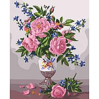 """Живопись по цифрам - Цветы """"Изысканность роз"""" 40*50см"""