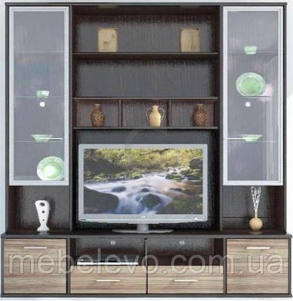 Гербор Амадеус секция под ТВ витрина матовая  2190х2100х505мм венге магия , фото 2
