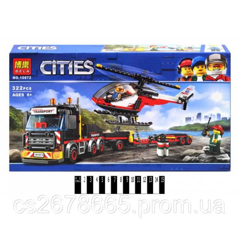 Конструктор CITIES 10872 (аналог Lego City 60183) «Перевозка тяжелых грузов» 322 дет.