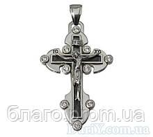 Великий срібний хрест 925 проби