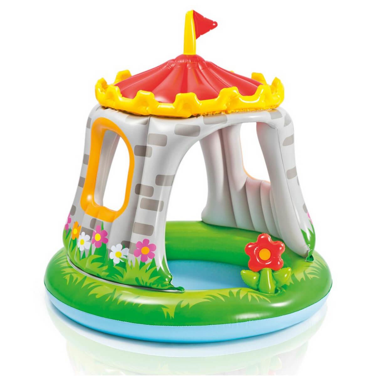 """Детский надувной бассейн Intex """"Королевский замок"""" с навесом."""