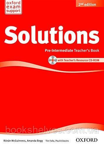 Solutions 2nd Edition Pre-Intermediate Teacher's Book + CD-ROM