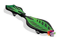 Скейтборд/скейт рипстик Ripstik Razor двухколесный с алюминиевой рамой Зеленый