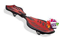 Скейтборд/скейт рипстик Ripstik Razor двухколесный с алюминиевой рамой: Красный