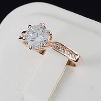 Обворожительное кольцо с кристаллами Swarovski, покрытие золото 0546