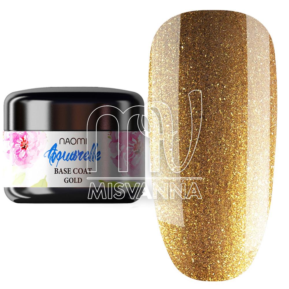 База для гель-лака Naomi Aquarelle Base (золото) 5 г