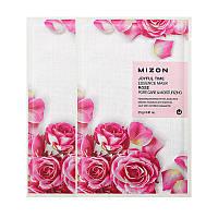 Тканевая маска с экстрактом розы Mizon Joyful Time Essence Mask Rose Pore Care&Moisturizing