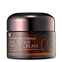 Увлажняющий крем все типы кожи с фильтратом слизи улитки Mizon Snail Repair Perfect Cream