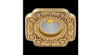 Латунный потолочный встраиваемый светильник FIRENZE, яркое золото