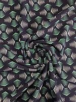 Ткань Креп Костюмка принт стрелки зеленый ширина1,5 метра