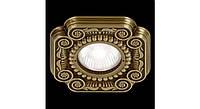 Латунный потолочный встраиваемый светильник FIRENZE, яркая патина
