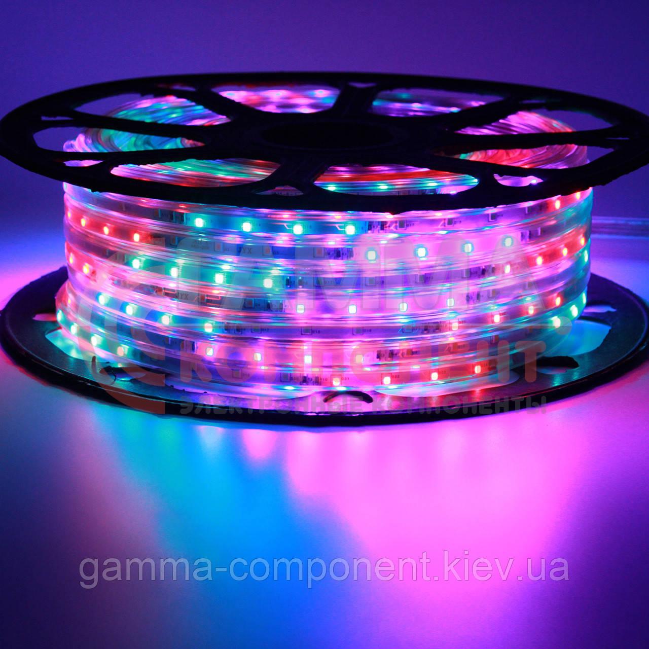 Светодиодная лента 220В Multi-Color 6 цветов smd 2835-48 лед/м 6 Вт/м герметичная