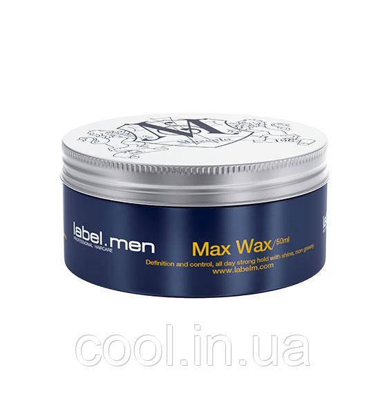 Воск для волос Максимальная фиксация label.men 50 мл.