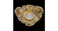 Латунный потолочный встраиваемый светильник CHIANTI, яркое золото