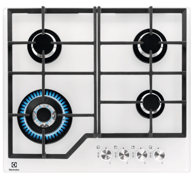Варочная панель газовая Electrolux EGG6436W белое стекло