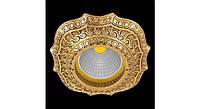 Латунный потолочный встраиваемый светильник LUCCA, яркое золото