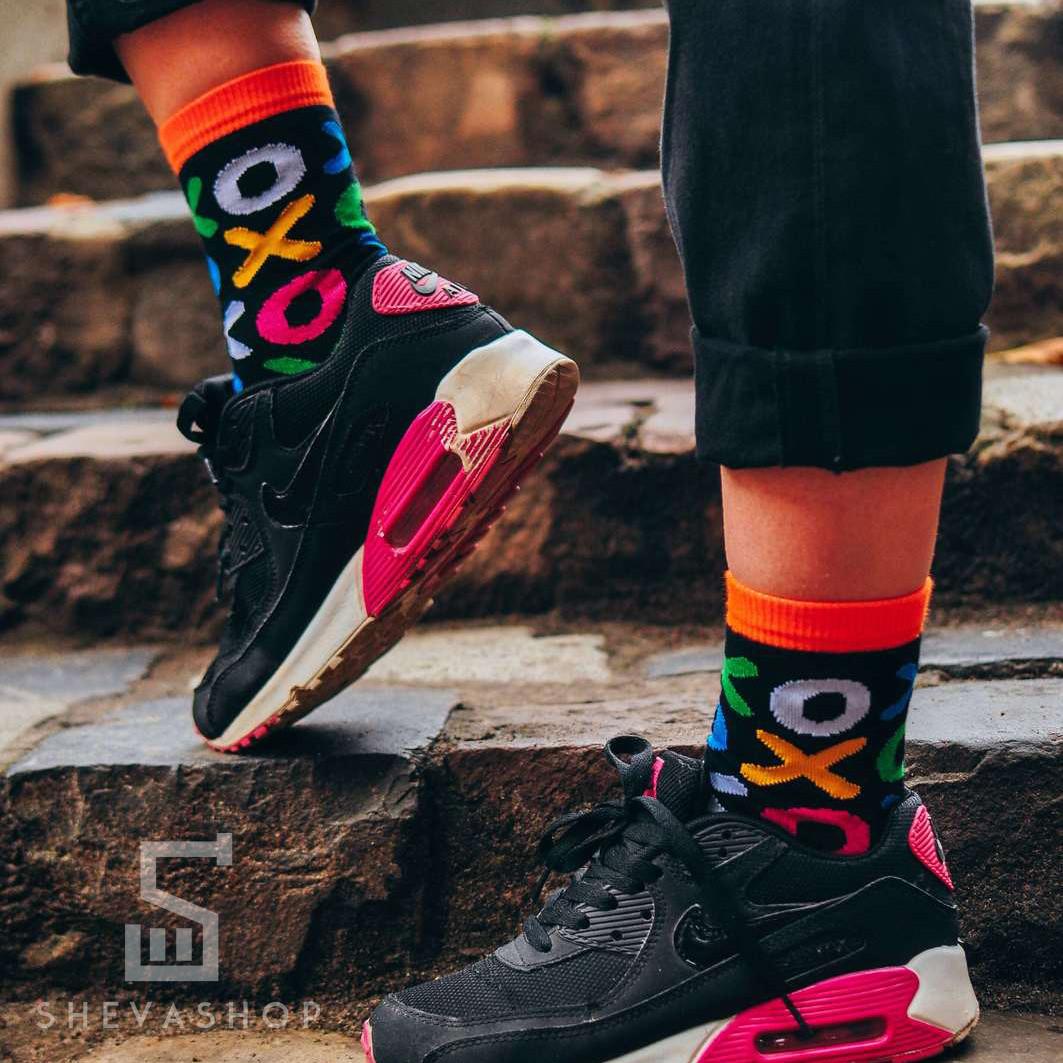 Длинные носки Soberay Cross Zero черные