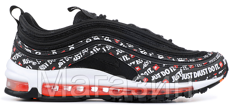 Мужские кроссовки Nike Air Max 97 Just Do It Black Orange AT8437-001 (в стиле Найк Аир Макс 97) черные, фото 2