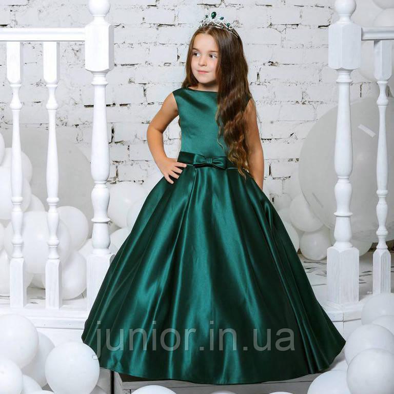 9316d364edb Шикарное атласное платье в пол для девочки