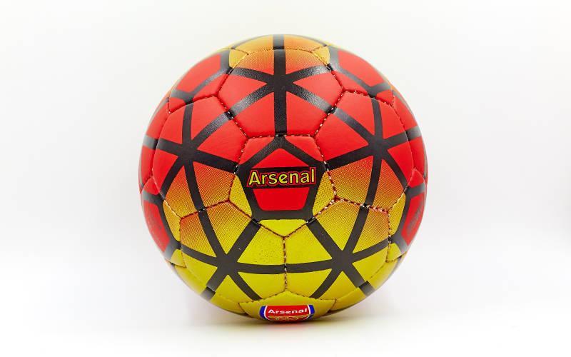 Мяч футбольный №5 Гриппи 5 слоев ARSENAL FB-0047-165