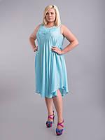 Уценка! Платье (ламбада) голубое, на 48-66 р-р, фото 1