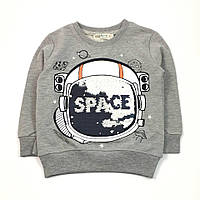 Джемпер для мальчика Космонавт, матовые двусторонние пайетки (р.92)