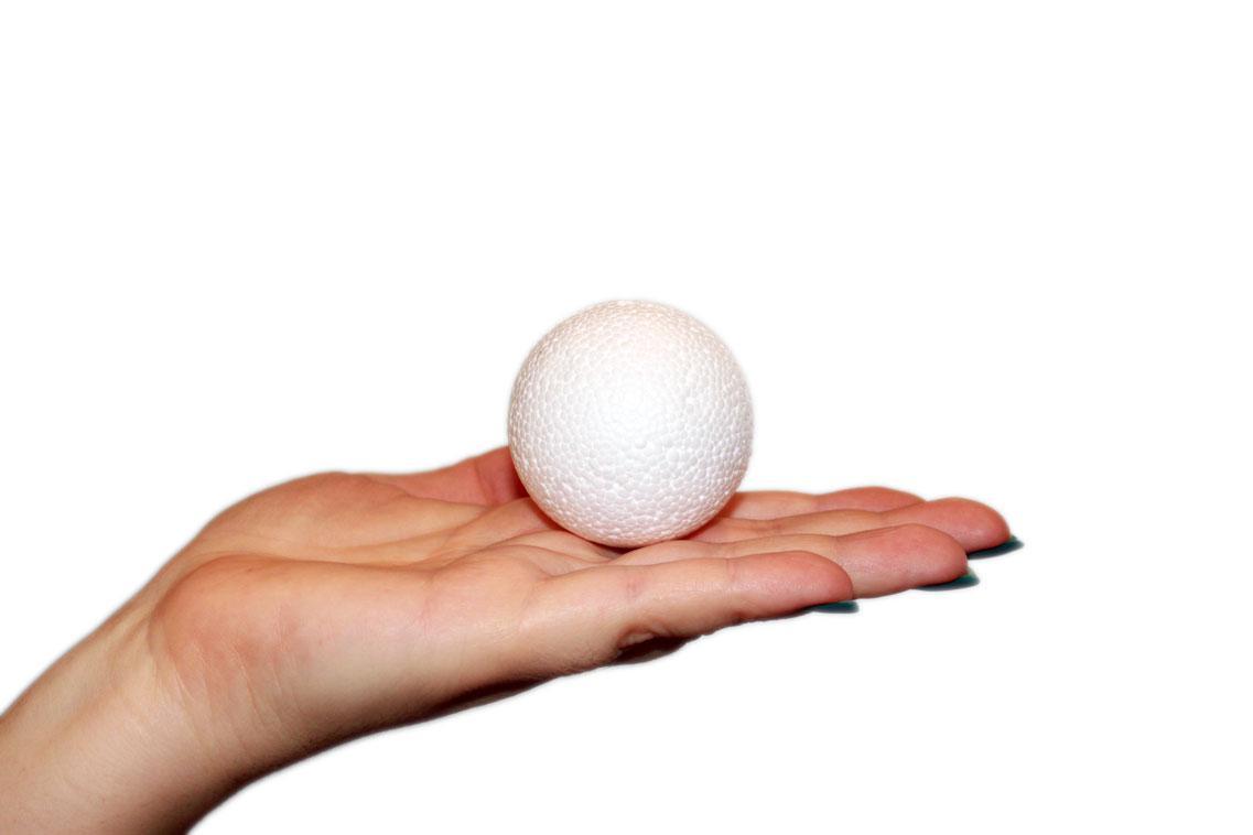 Шар пенопластовый диаметр 5 см