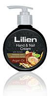 Питательный крем для рук с аргановым маслом/Lilien hand&nail cream Argan oil