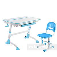 Комплект растущая парта Volare Blue + детский стул SST3 Blue FunDesk, фото 1