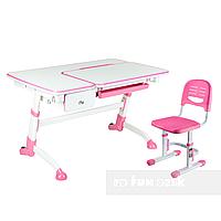 Комплект подростковая парта Amare Pink с выдвижным ящиком + детский стул SST3 Pink FunDesk , фото 1