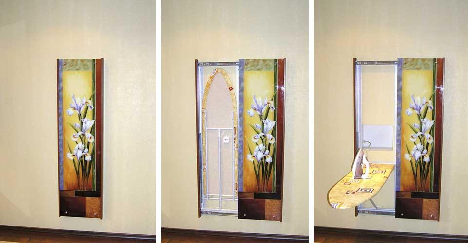 Гладильная доска настенная зеркало
