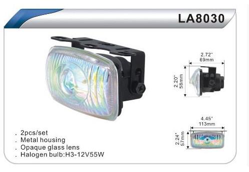 Фары дополнительные DLAA 8030 BL/H3-12V-55W/113*57mm комплект(8046)