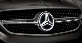 Емблема на решітку радіатора з підсвічуванням для Mercedes W218
