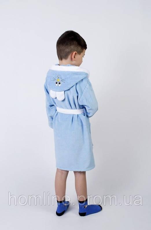 Халат детский Lotus Зайка новый 9-10 лет голубой