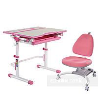 Комплект растущая парта Lavoro L Pink + детское кресло для школьника SST4 Pink FunDesk, фото 1