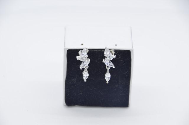 Серебряные серьги 925 пробы, серьги из стерлингового серебра, женские серьги с кубическим цирконием