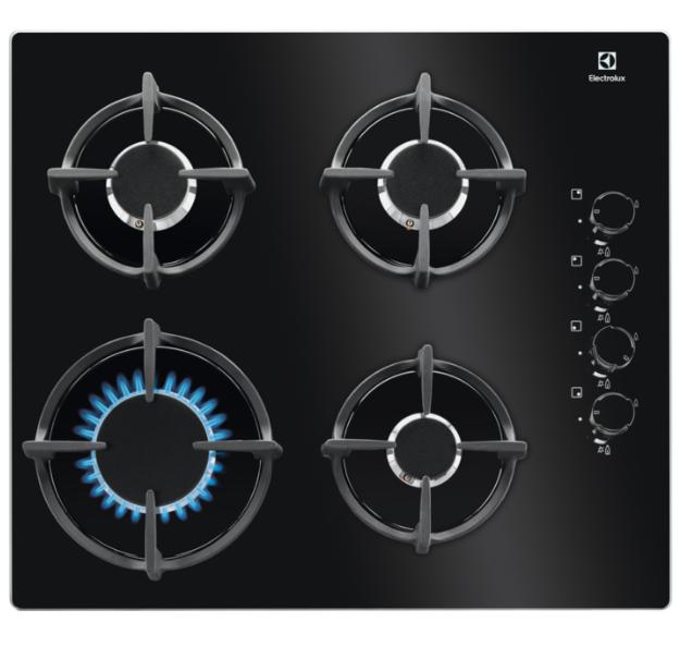 Газовая варочная поверхность Electrolux EGG6407K черное стекло