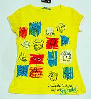 Модна футболочка на дівчинку ріст 110-122 см, фото 1
