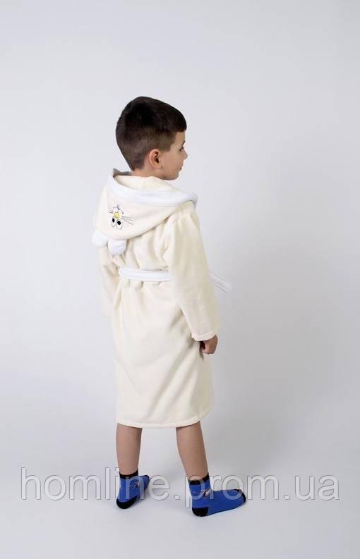 Халат детский Lotus Зайка новый 3-4 года кремовый