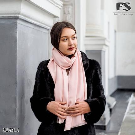 Кашемировый  розовый  стильный шарф Донна, фото 2
