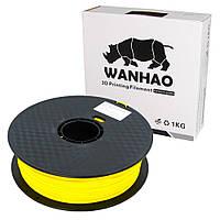 Пластик для 3D печати Wanhao PLA, 1.75 мм, 1 кг, жёлтый