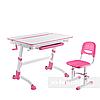 Комплект растущая парта Volare Pink + детский стул SST3 Pink FunDesk