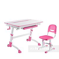 Комплект растущая парта Volare Pink + детский стул SST3 Pink FunDesk, фото 1