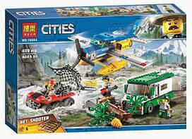 Конструктор Bela 10864 (аналог Lego City 60175) Ограбление у горной речки, 409 деталей
